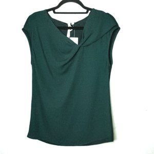 NWT Bellatrix Draped Tank Top Sz M Dark Green